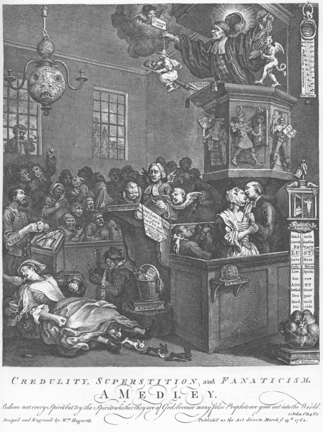 Hogarth's Credulity, Superstition, and Fanaticism. Wikipedia.