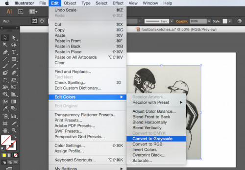How to convert a hand-drawn illustration into a digital