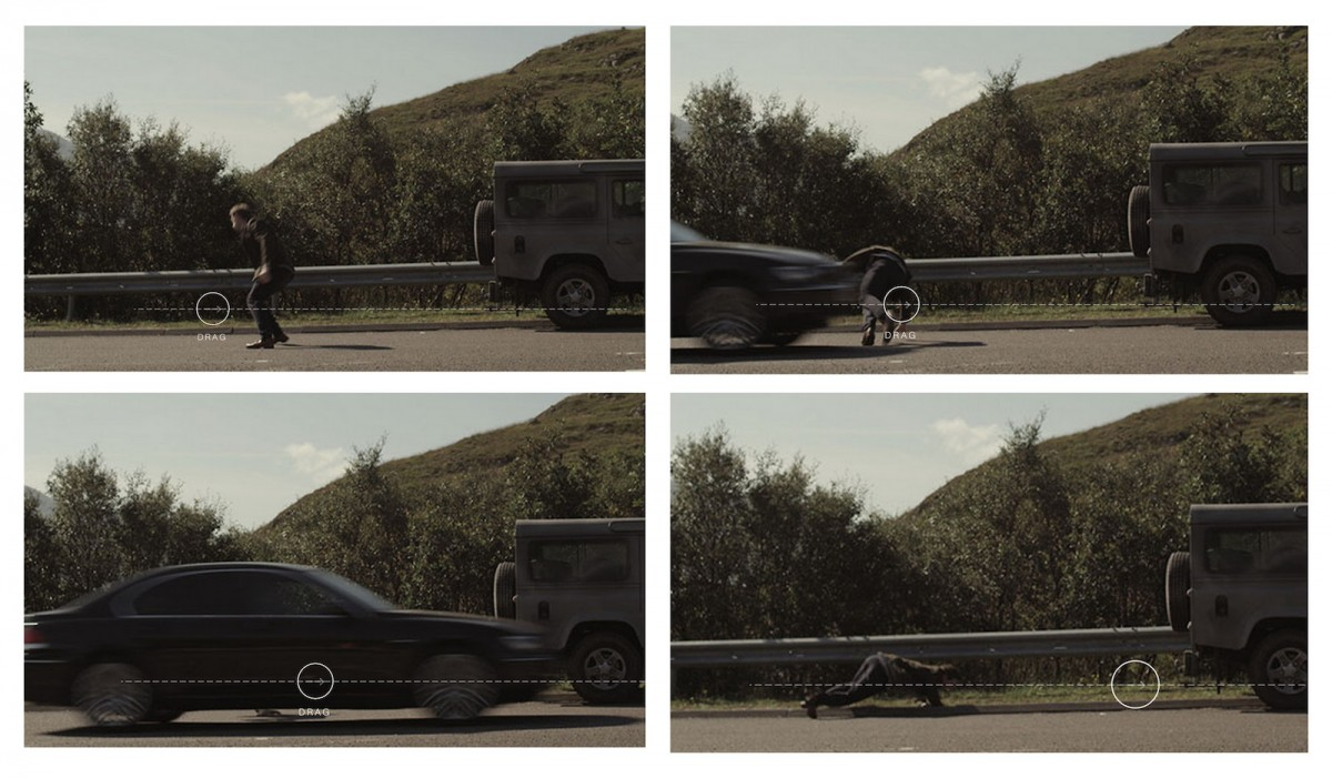 A screenshot from Land Rover's interactive story.