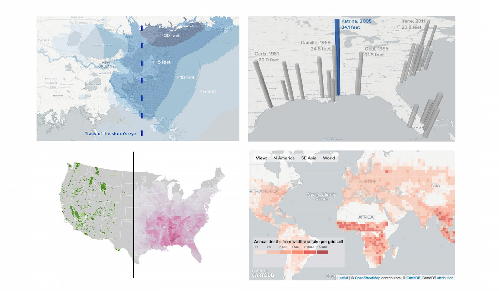 Using BuzzFeed's listicle format to tell stories with maps and charts
