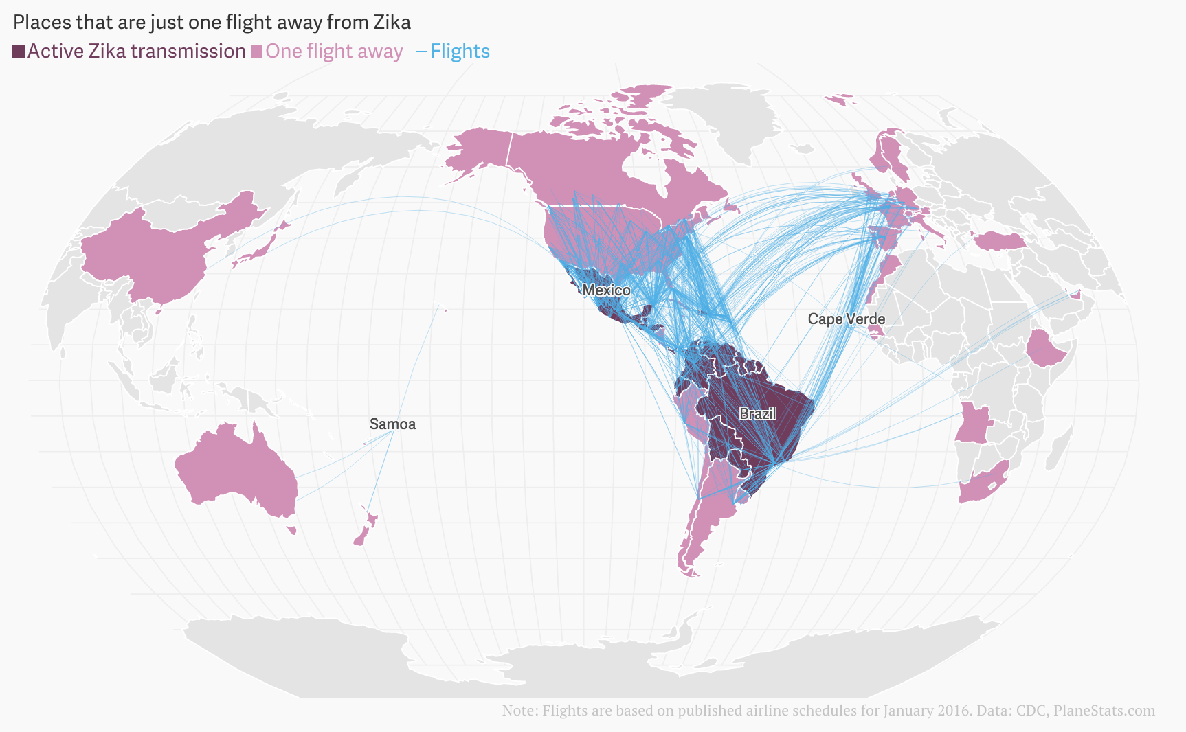 The Spread Of Zika Virus A Roundup Of Visualizations Storybench