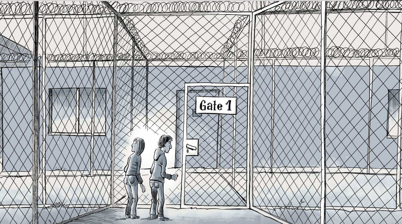 Patrick Chappatte and Anne-Frédérique Widmann's The Last Phone Call about death row prisoners was published this month in The New York Times.