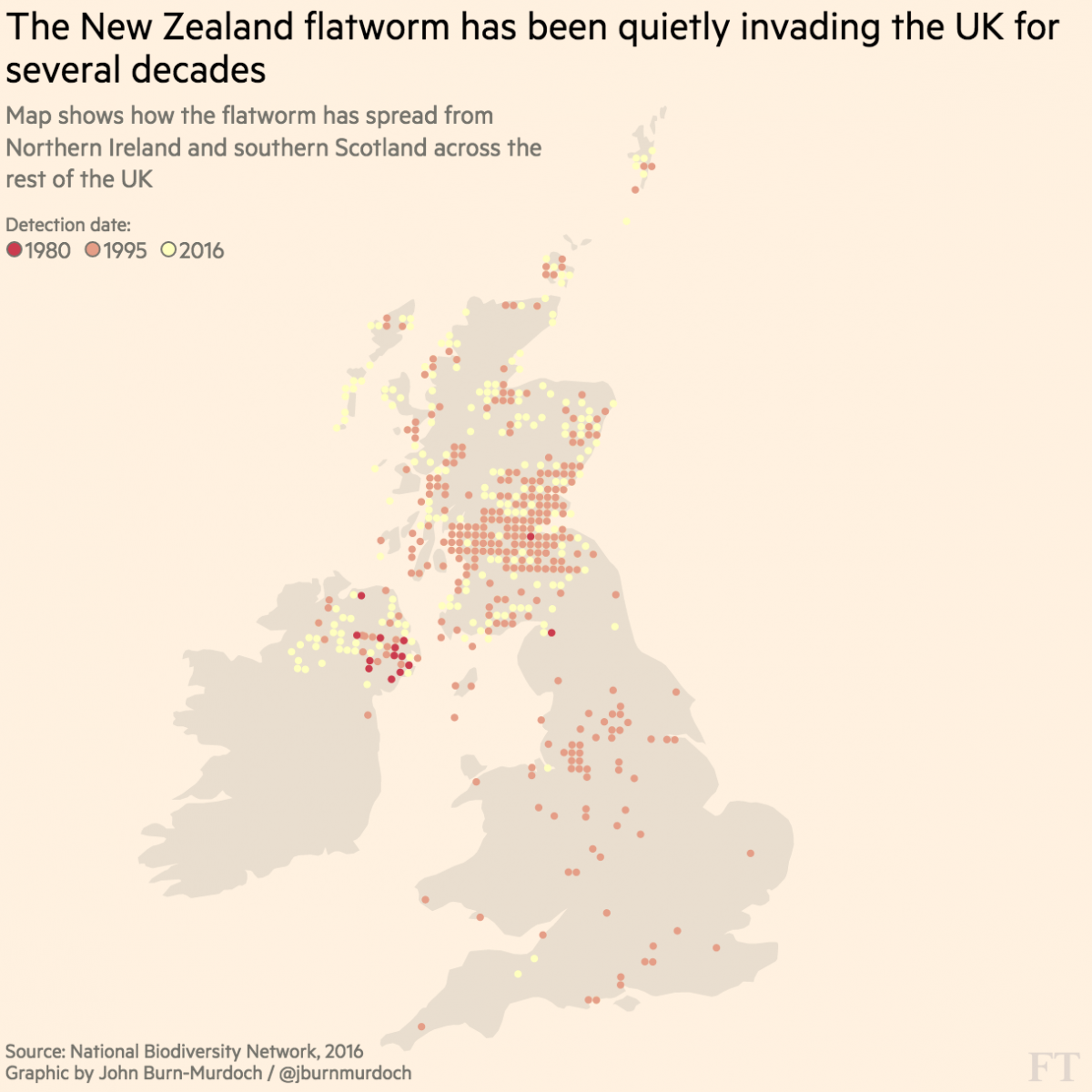 How The Financial Times Built A Story On Invasive Insects That - Us maps that can be color coded