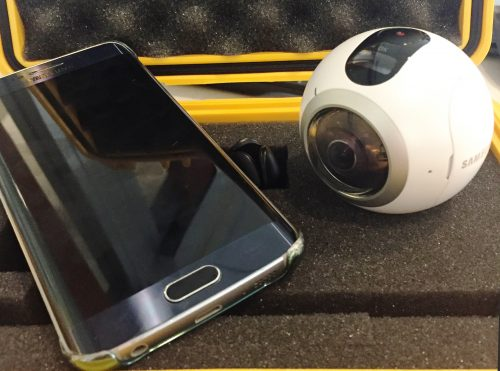 For this 360 video, Griffiths just used his phone and a Gear 360.