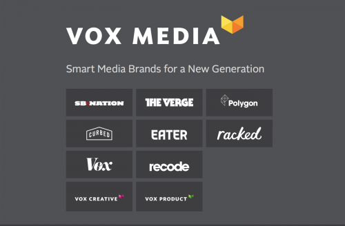 Vox Media holds a series of different niche-brands and creative ad companies