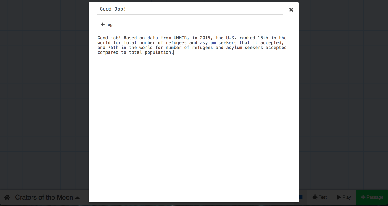 How to turn data into an interactive story with Twine