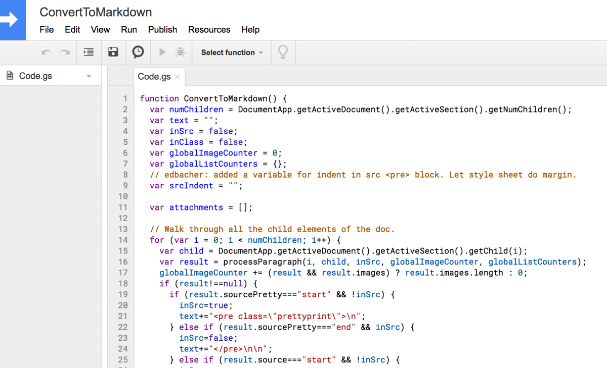 How to convert a Google Doc to RMarkdown and publish on
