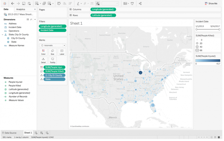 How to build a map and use filters in Tableau Public - Storybench