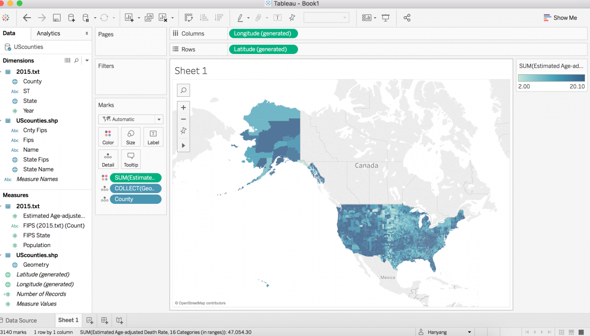 How to build an interactive county-level map in Tableau - Storybench