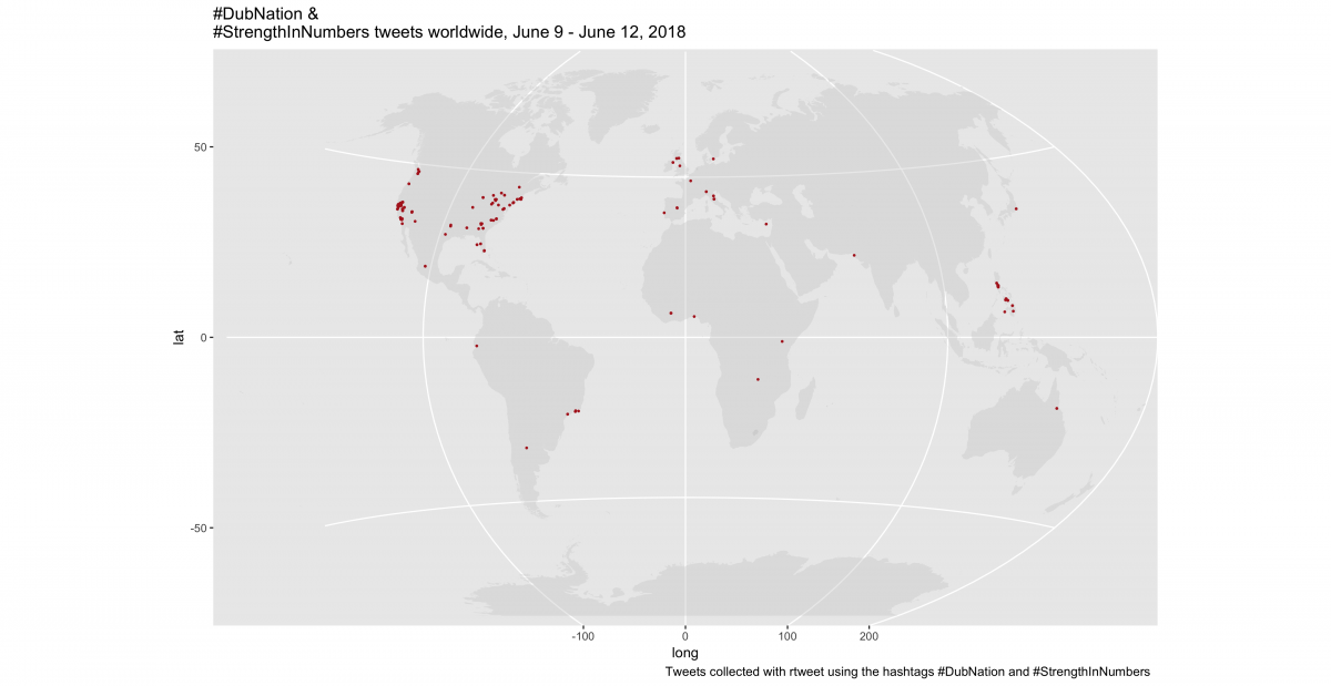 How to build an animated map of tweets about the NBA finals