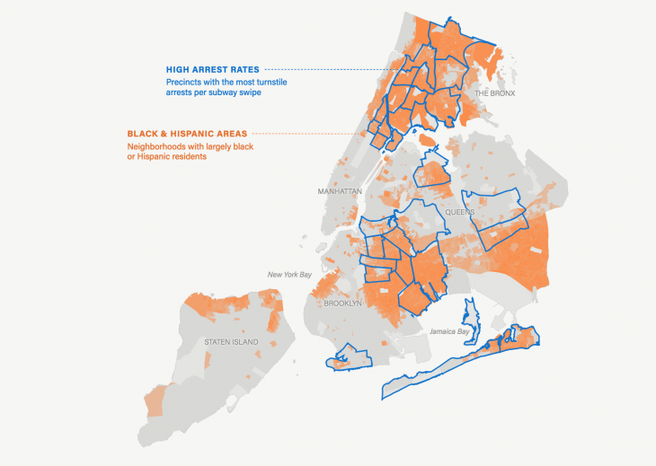 Nyc Neighborhood With Subway Map.How The Marshall Project Visualized Racial Inequities In New York
