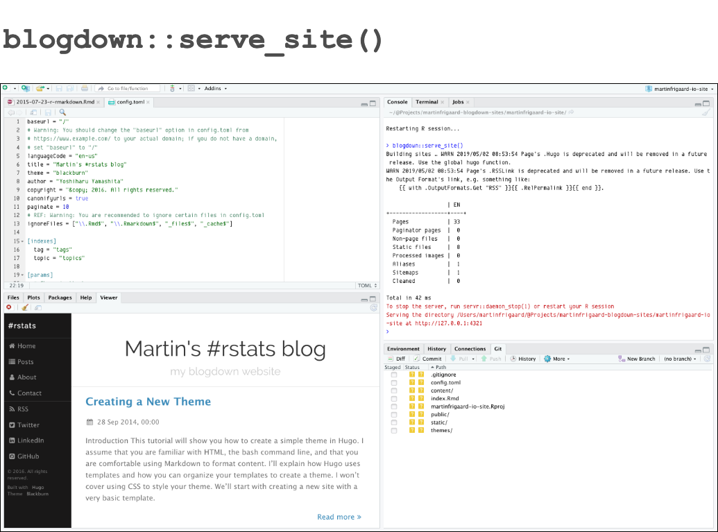 How to build a website with Blogdown in R - Storybench