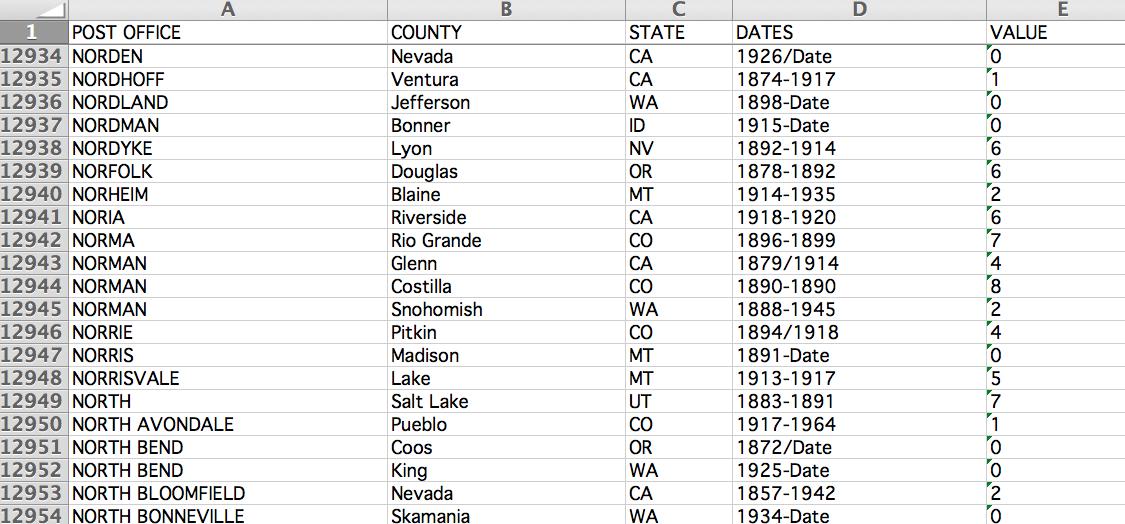 A screenshot of Helbock's database. Credit: Cameron Blevins.