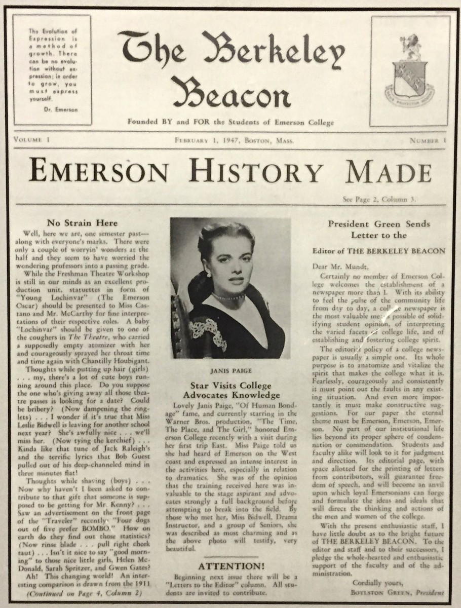 The first issue of The Berkeley Beacon.