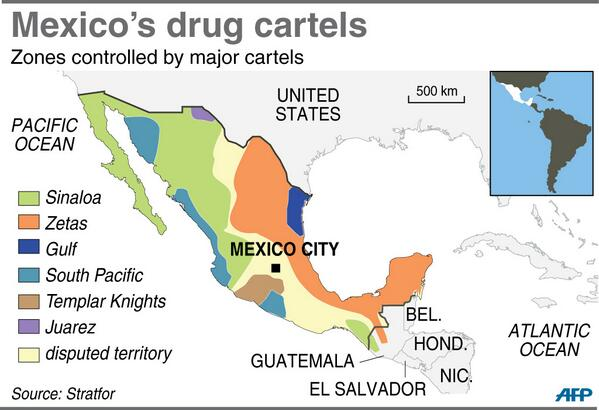 Mexico Cartel Map Visualizing Mexico's drug cartels: A roundup of maps   Storybench Mexico Cartel Map