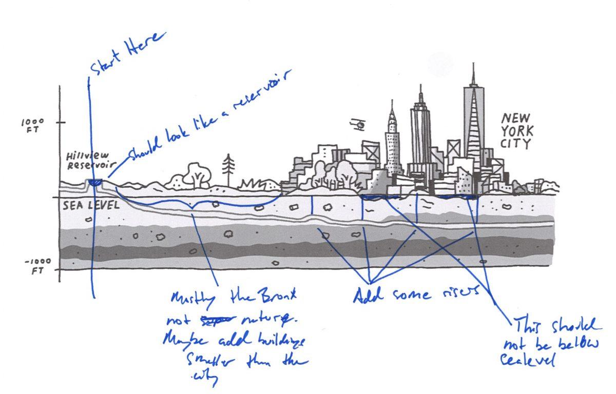An early sketch by Cochran.