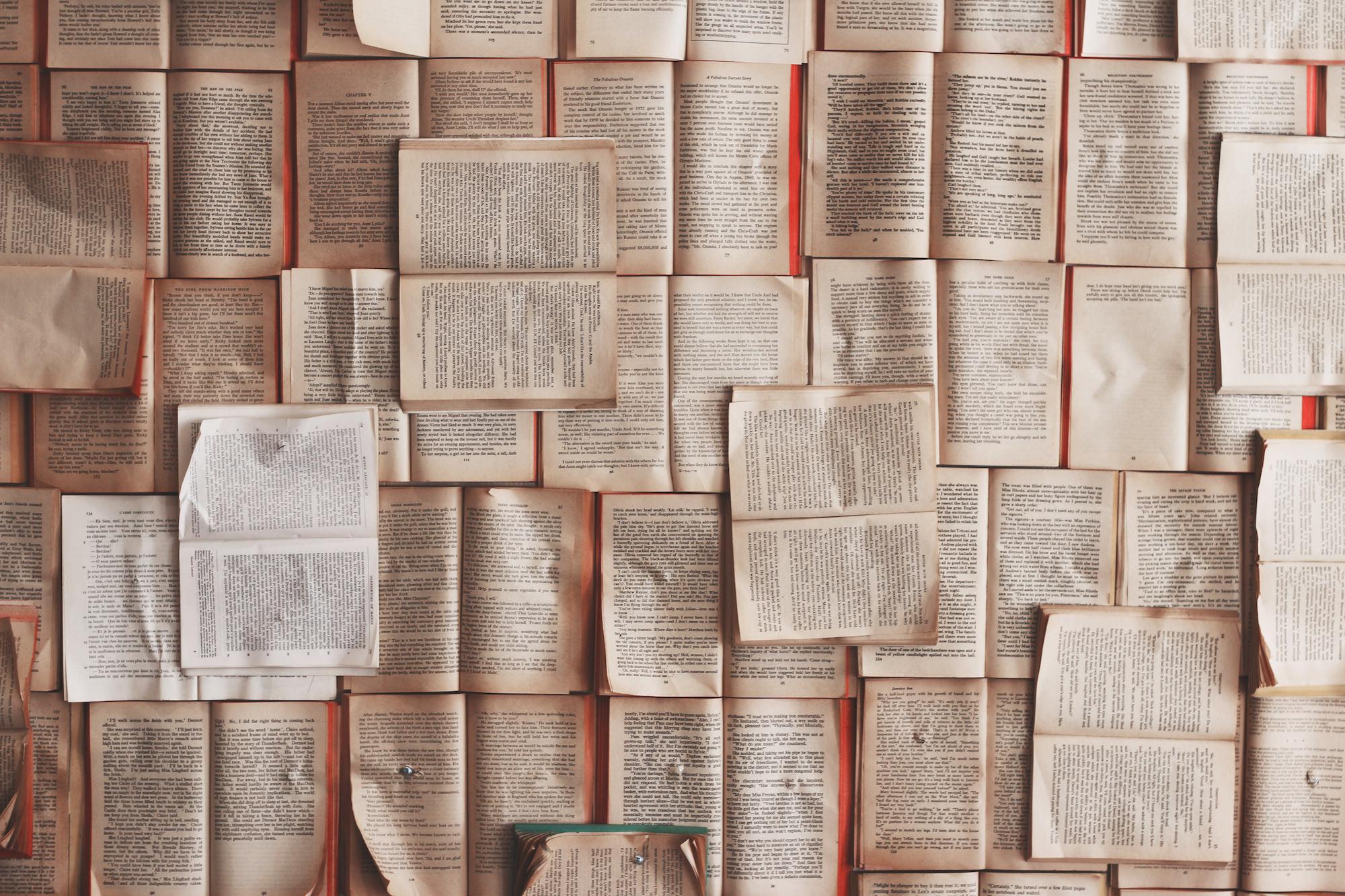 Display of books.